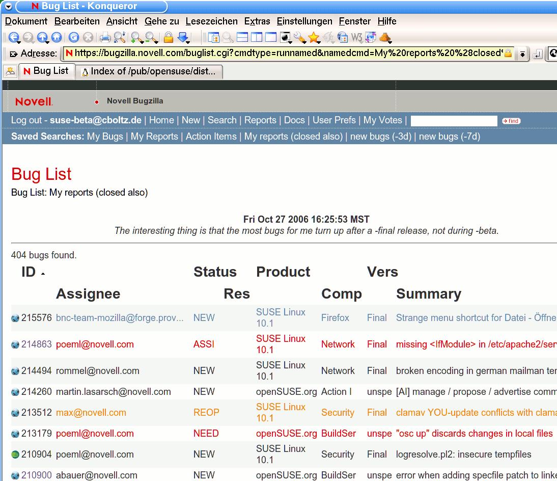 Blog Not Found: Artikel Mit Tag Bug